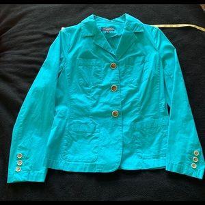 Talbots lightweight stretch aqua jacket 10p